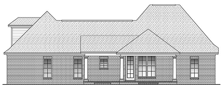 Country French Country Southern House Plan 56985 Rear Elevation