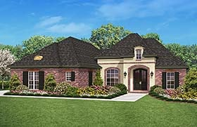 Country French Country Southern House Plan 56994 Elevation