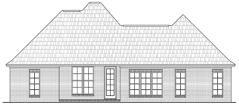 Country French Country Southern House Plan 56994 Rear Elevation