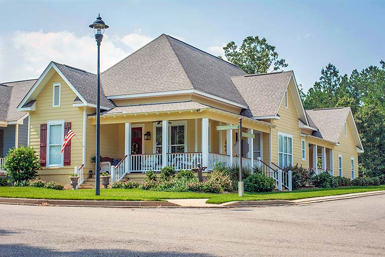 Cottage, Country, Craftsman House Plan 56997 with 3 Beds, 3 Baths, 2 Car Garage Picture 1