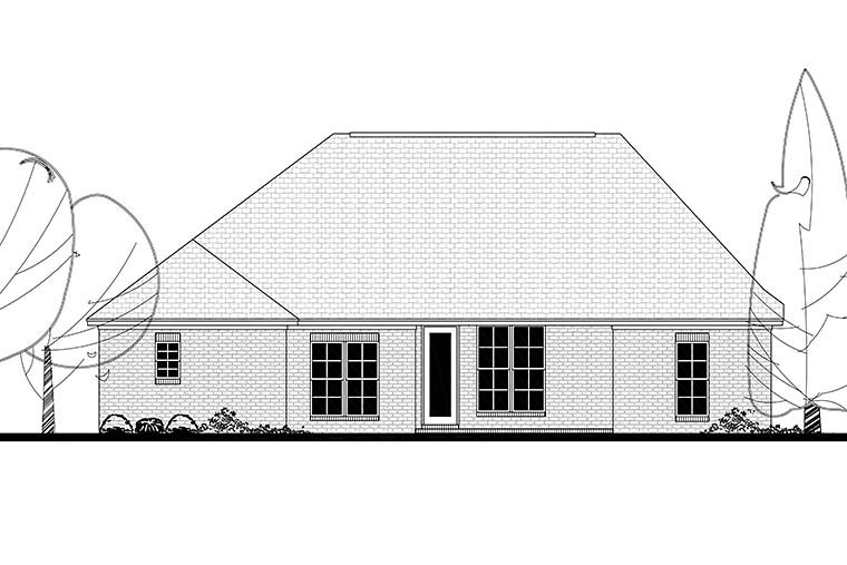 Country French Country Traditional House Plan 56998 Rear Elevation