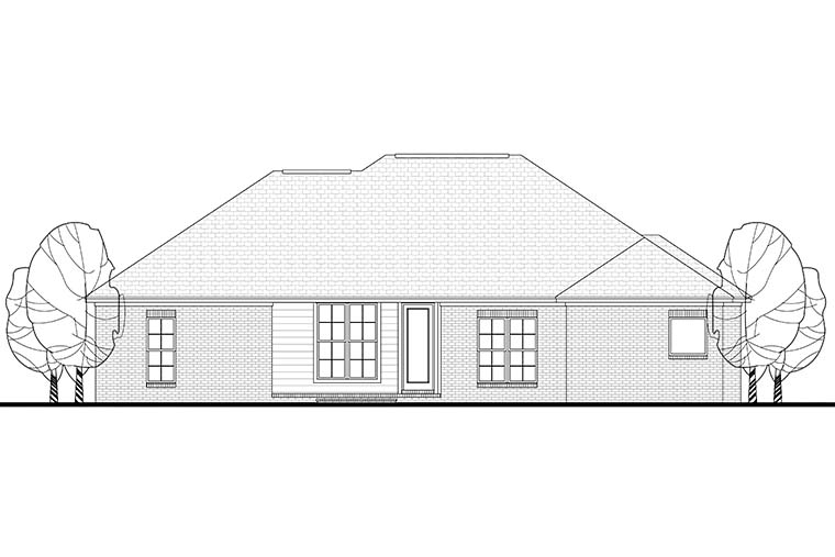 Country French Country Traditional House Plan 56999 Rear Elevation