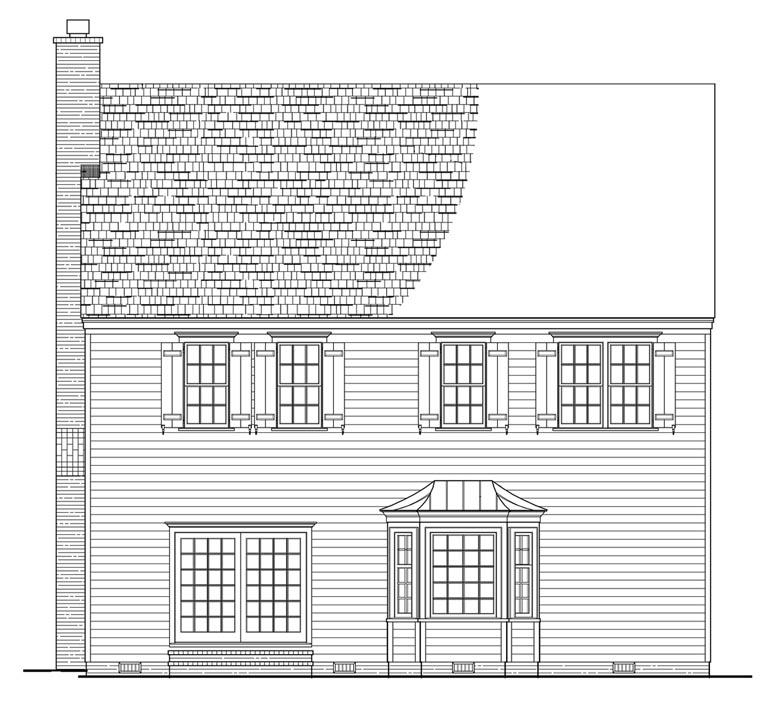 Farmhouse Traditional House Plan 57053 Rear Elevation