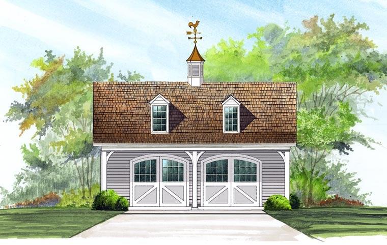 Garage Plan 57056 Elevation