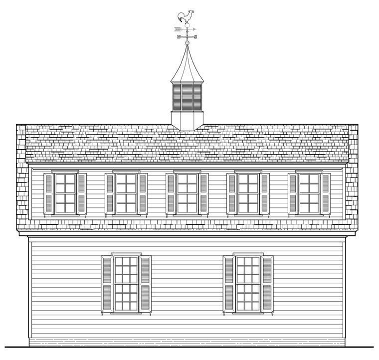 Garage Plan 57056 Rear Elevation