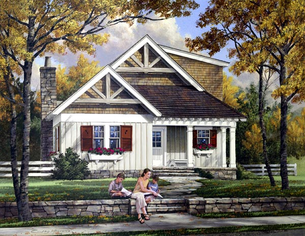 Craftsman House Plan 57068 Elevation