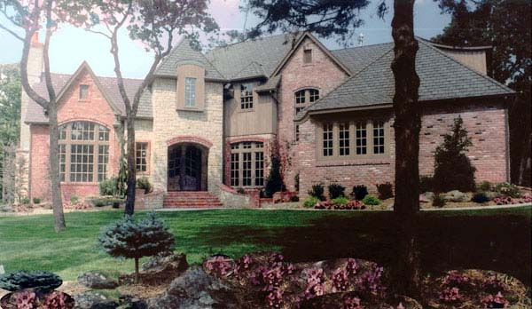 European House Plan 57138 with 4 Beds, 5 Baths, 3 Car Garage Elevation