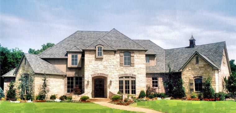 European House Plan 57148 with 5 Beds, 5 Baths, 4 Car Garage Elevation