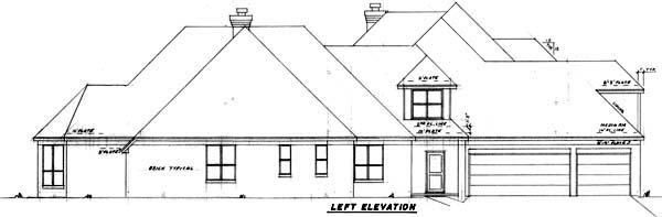 European House Plan 57157 with 5 Beds, 6 Baths, 3 Car Garage Picture 1