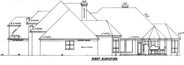 European House Plan 57157 with 5 Beds, 6 Baths, 3 Car Garage Picture 2