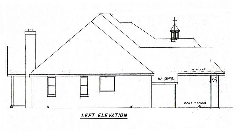 Traditional House Plan 57184 with 4 Beds, 3 Baths, 3 Car Garage Picture 2