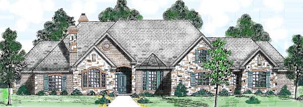 Ranch House Plan 57191 Elevation