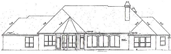 Ranch House Plan 57191 Rear Elevation