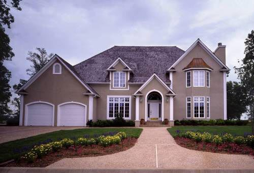 European House Plan 57211 with 3 Beds, 4 Baths, 2 Car Garage Elevation