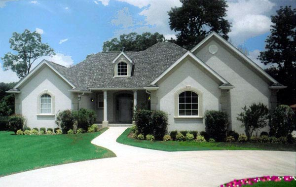 Mediterranean House Plan 57219 with 3 Beds, 4 Baths, 2 Car Garage Elevation