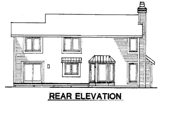 Country House Plan 57301 Rear Elevation
