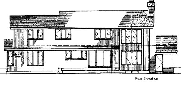 Contemporary House Plan 57305 Rear Elevation