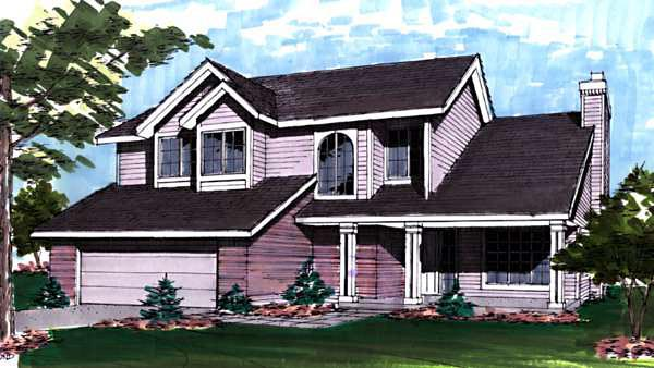 Country House Plan 57308 Elevation