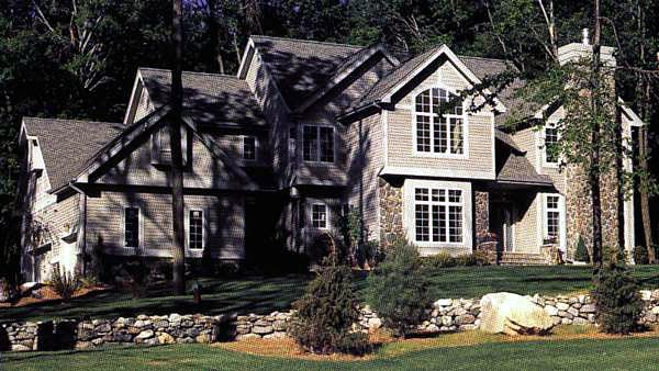European House Plan 57314 Elevation