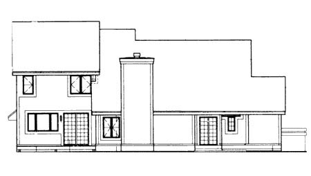 House Plan 57315 Rear Elevation