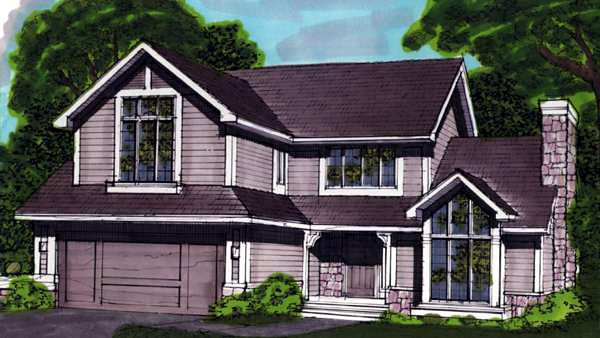 House Plan 57316 Elevation