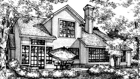Country House Plan 57320 Rear Elevation