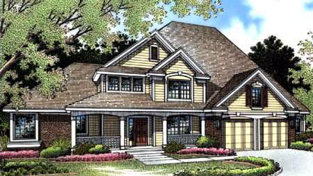 Country House Plan 57322 with 3 Beds, 3 Baths, 2 Car Garage Picture 1