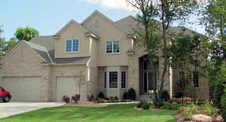 European House Plan 57324 with 4 Beds, 3 Baths, 3 Car Garage Elevation