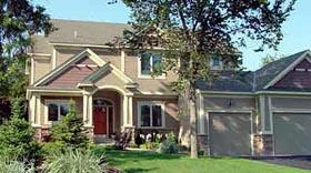 Colonial Craftsman European House Plan 57325 Elevation