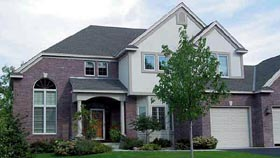 European , Country House Plan 57327 with 3 Beds, 3 Baths, 4 Car Garage Elevation