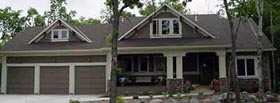 Bungalow , Country , Craftsman House Plan 57332 with 3 Beds, 3 Baths, 3 Car Garage Elevation