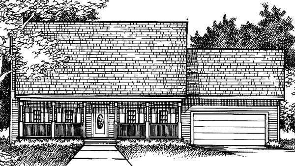 Country House Plan 57335 Elevation