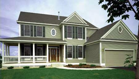 Country, Farmhouse House Plan 57336 with 4 Beds , 3 Baths , 3 Car Garage Elevation