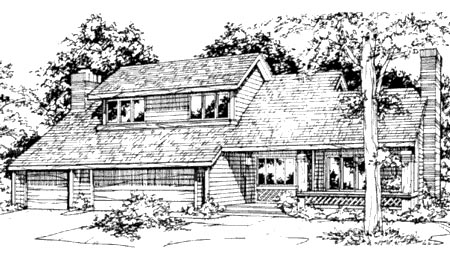Country House Plan 57337 Elevation