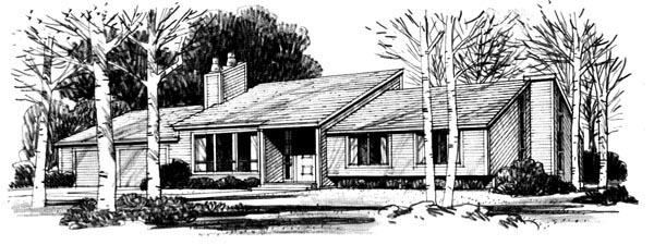 Ranch House Plan 57341 Elevation