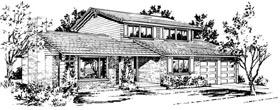 House Plan 57344 Elevation