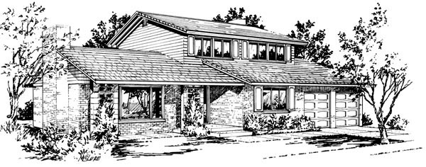 House Plan 57344 Elevation