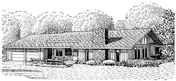 Ranch House Plan 57346 Elevation
