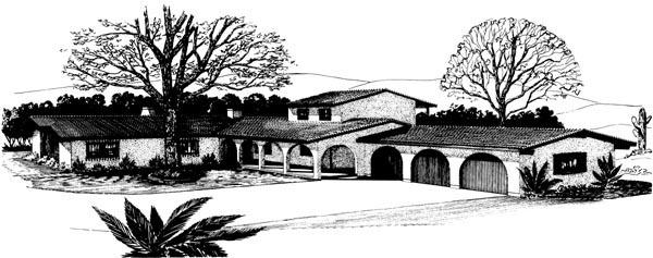 Mediterranean House Plan 57348 Elevation