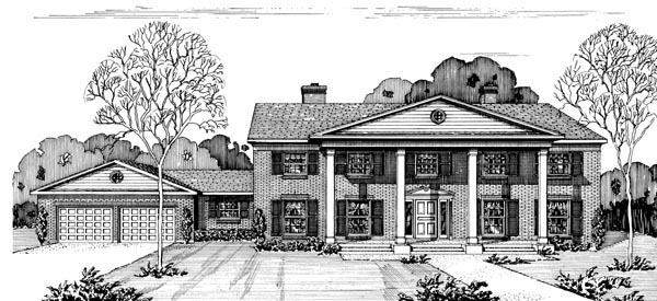 Country House Plan 57349 Elevation