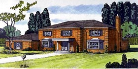 Colonial House Plan 57350 Elevation