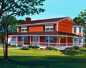 Country House Plan 57351 Elevation