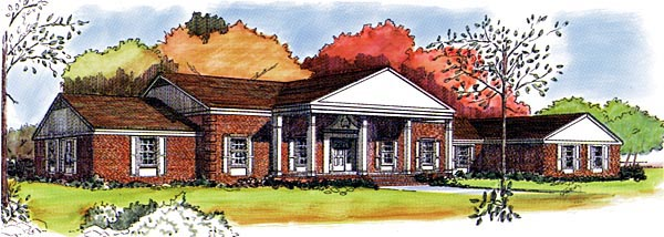 Colonial House Plan 57352 Elevation