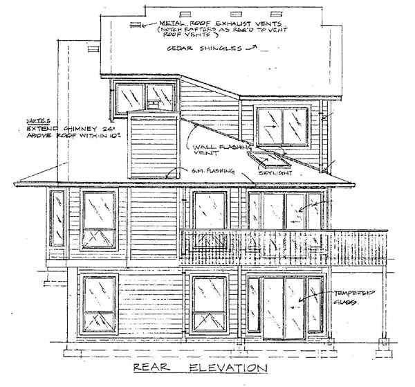 House Plan 57356 | Style Plan with 1690 Sq Ft, 3 Bedrooms, 3 Bathrooms, 2 Car Garage Rear Elevation