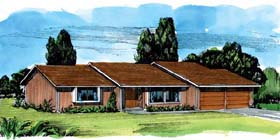 Ranch House Plan 57357 Elevation
