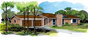 Ranch House Plan 57360 Elevation