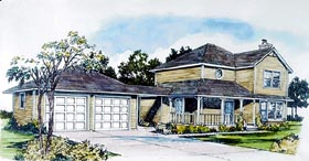 Country House Plan 57361 Elevation