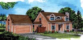 Cape Cod House Plan 57363 Elevation