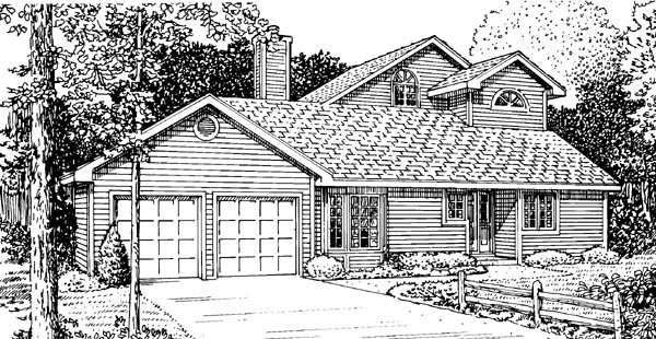 House Plan 57365 Elevation