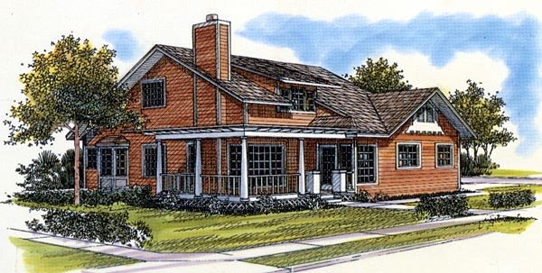 Bungalow House Plan 57367 Elevation